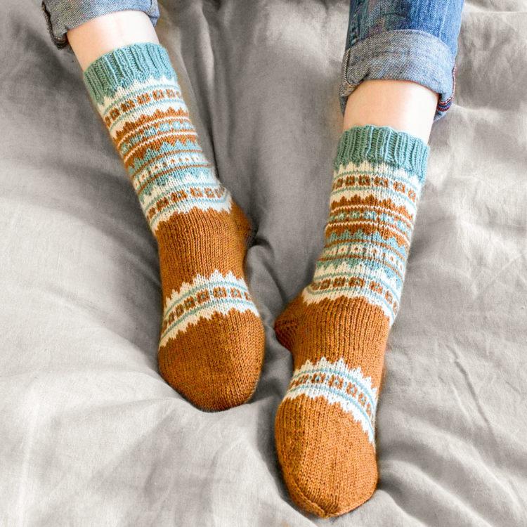 Socken mit Muster stricken kostenlose Anleitung