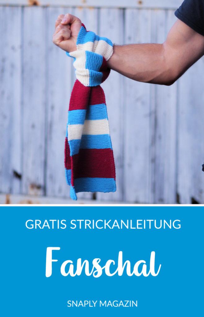 Fanschal stricken – kostenlose Strickanleitung