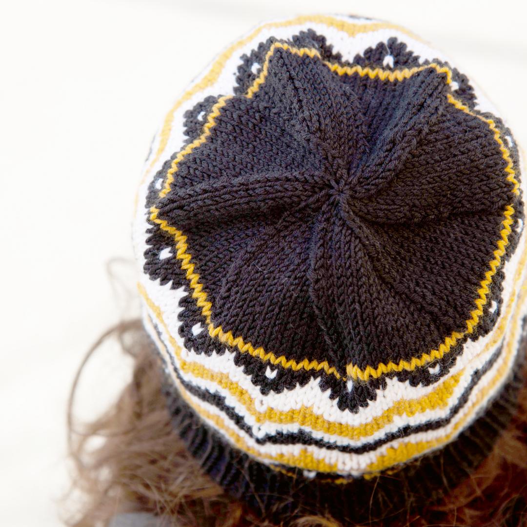 Mütze im Jaquardmuster stricken – Strickanleitung kostenlos