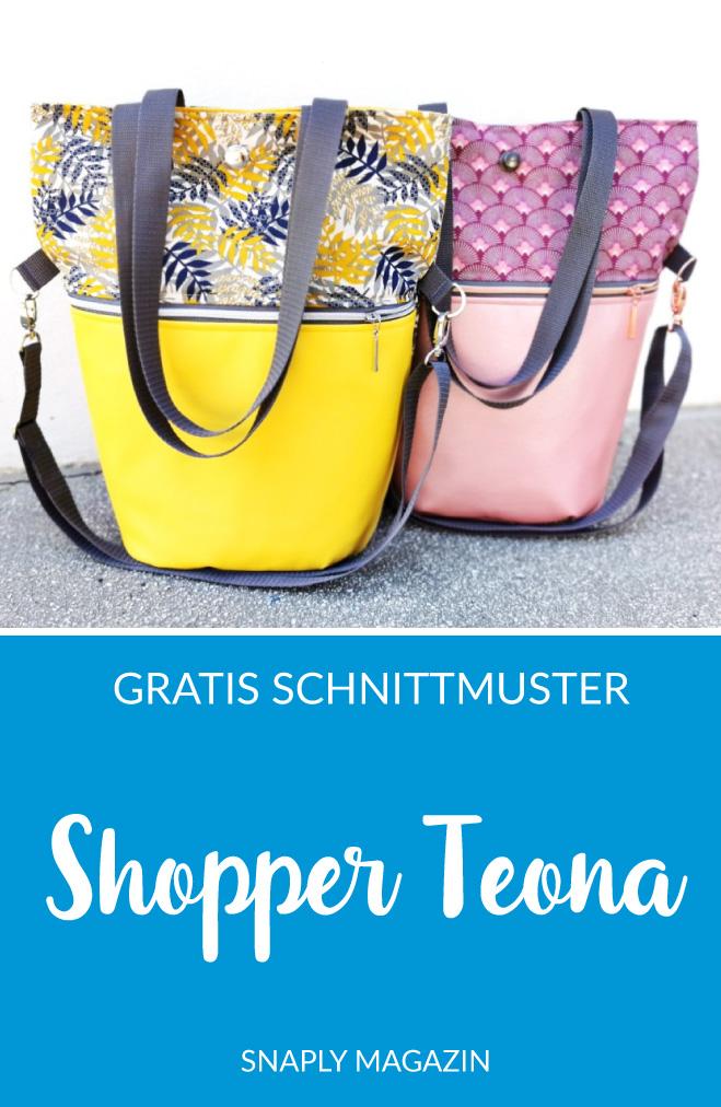 Shopper Teona nähen  Schnittmuster kostenlos