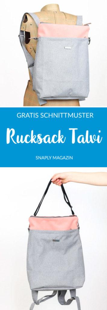 Rucksack Talvi nähen – Schnittmuster kostenlos