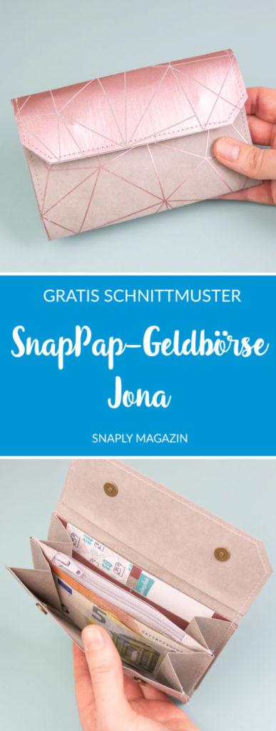 """SnapPap-Geldbörse """"Jona"""" nähen – Schnittmuster kostenlos"""