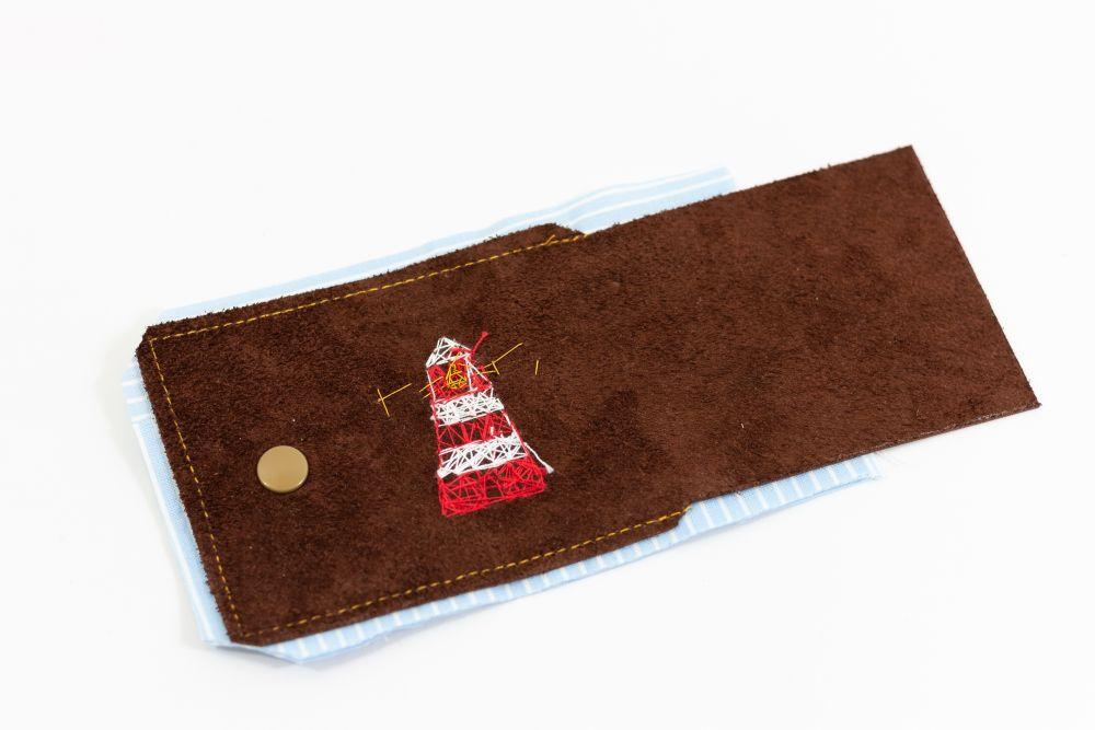 Faltbörse aus Leder – Schnittmuster kostenlos