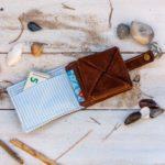 Faltbörse aus Leder – kostenloses Schnittmuster