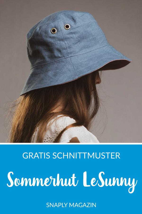 Sommerhut LeSunny für Kinder nähen – Schnittmuster kostenlos
