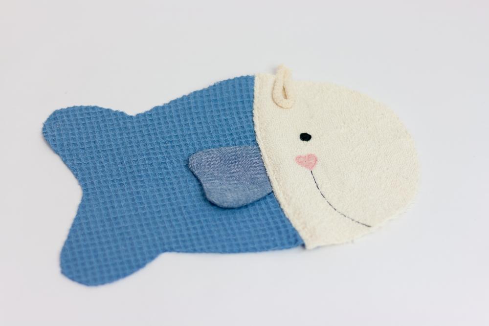 Waschhandschuh Fischlein nähen – Schnittmuster kostenlos