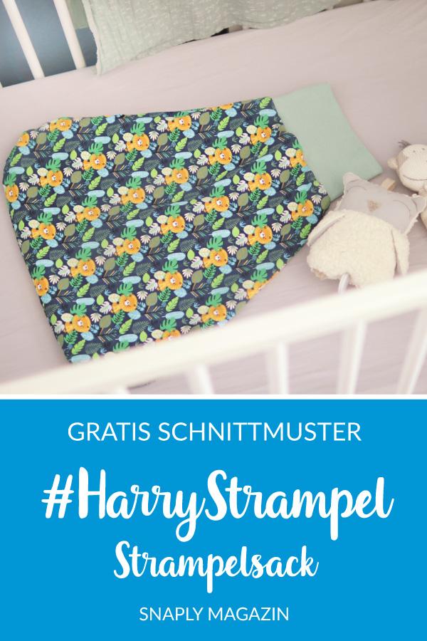 #HarryStrampel Strampelsack nähen – Schnittmuster kostenlos