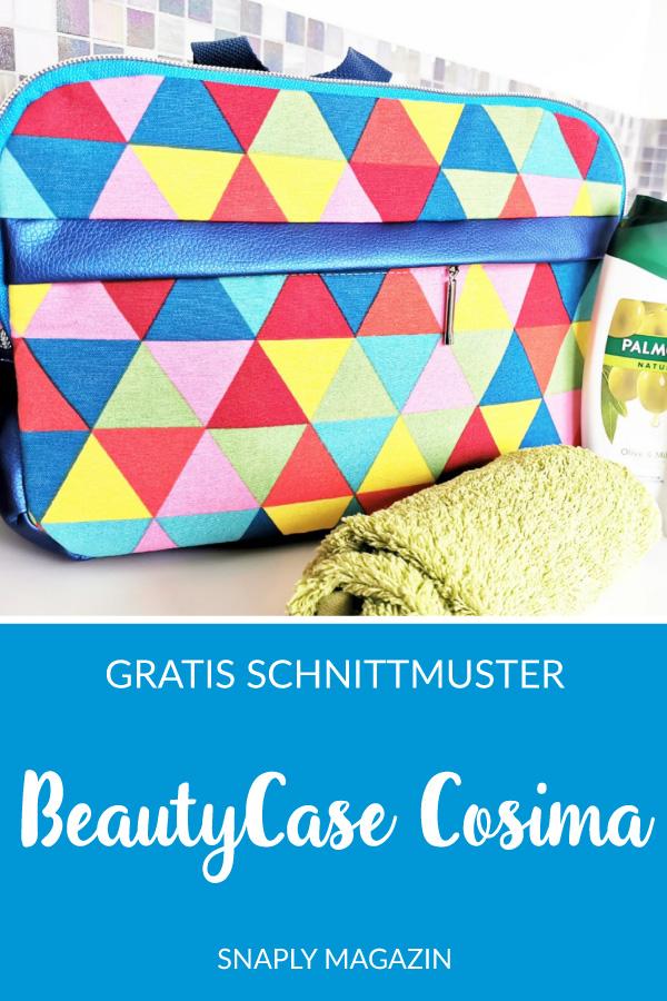 BeautyCase Cosima nähen – Schnittmuster kostenlos