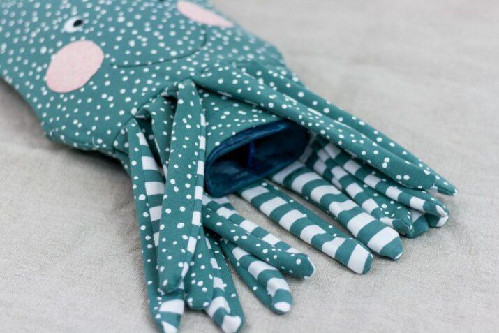 Wärmflaschenhülle Krake nähen – Schnittmuster kostenlos