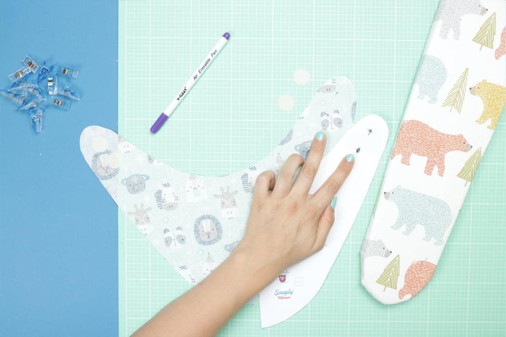 Baby-Halstuch nähen – Schnittmuster kostenlos