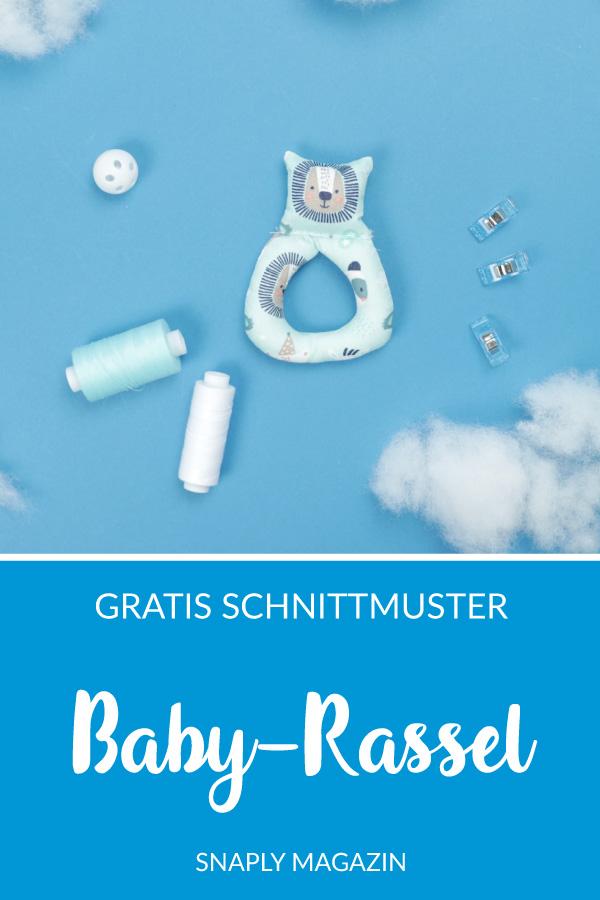 Baby-Rassel nähen – Schnittmuster kostenlos