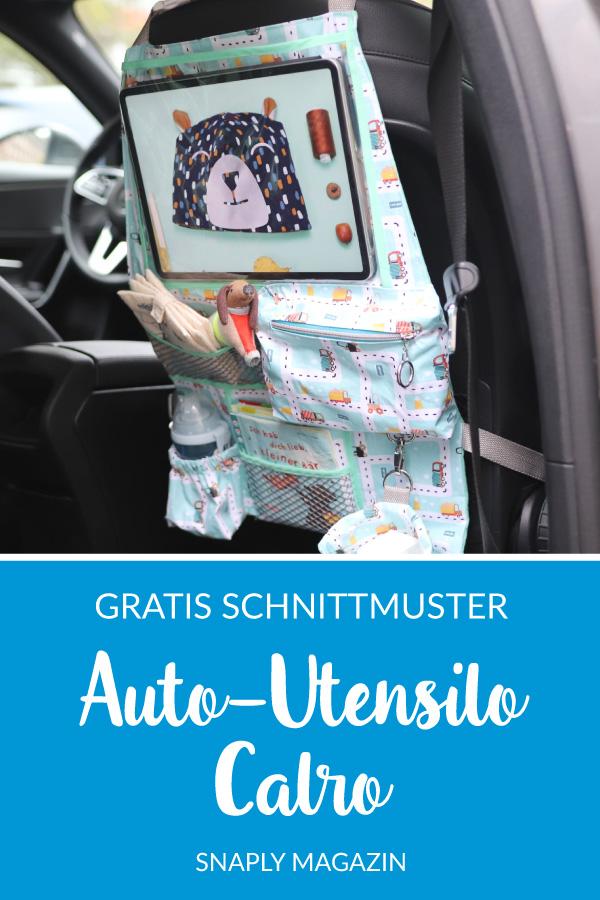 Auto-Utensilo nähen – Schnittmuster kostenlos