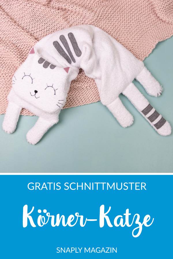 Körnerkissen Katze nähen – Schnittmuster kostenlos