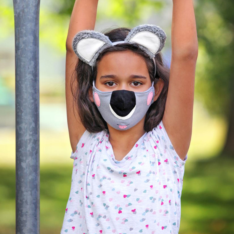 Koala-Maske mit Haarreif nähen – Schnittmuster kostenlos