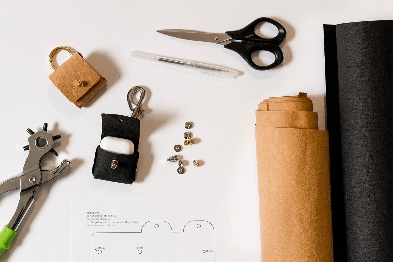Kopfhörer-Tasche nähen  –Schnittmuster kostenlos