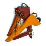 Kostenloses Schnittmuster: Scherenschutz aus Leder