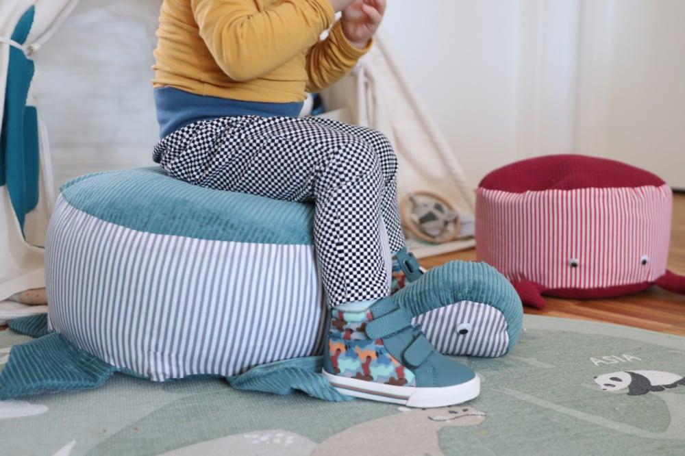 Sitzpouf / Sitzkissen für Kinder nähen – Schnittmuster kostenlos