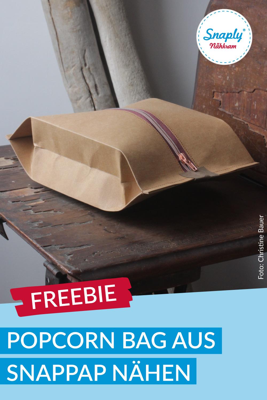 Popcorn Bag aus SnapPap nähen – Schnittmuster kostenlos
