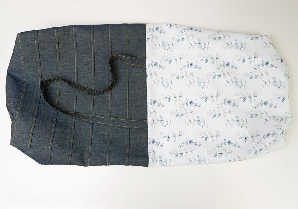 Jeans-Einkaufsbeutel Jeannie nähen – Schnittmuster kostenlos